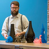 University of West Florida student Chris Borthwick works in UWF's Sea3D Additive Manufacturing Lab in the Museum of Commerce January 26, 2018. The space is a unique community-based lab where University students and clients create and print 3D products. The lab is the first launch of UWF's Innovation Network initiative.