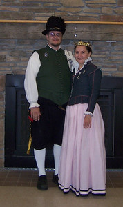 Us at Coronation of Rowan and Logan, 2007.