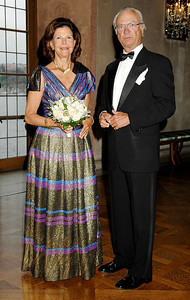 Their Majesties King Carl XVI Gustaf and Queen Silvia of Sweden. Photo by the Stockholm International Water Institute under the Creative Commons license.