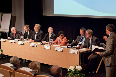 Panel session on Thursday 25 August 2011.  Photo by the Stockholm International Water Institute under the Creative Commons license.
