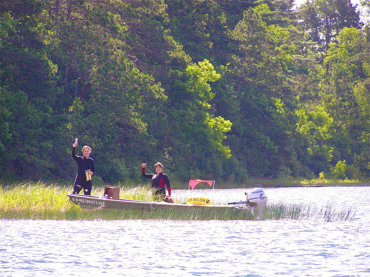 Back from their dive, Gretchen and Ali are happy to report that Sparkling Lake is making a comeback.