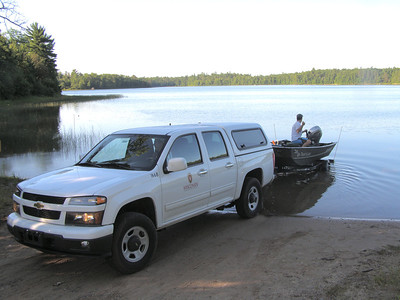 On a recent summer day, researchers from the Center for Limnology, put boats in on Sparkling Lake, a research site of the North Temperate Lakes Long-Term Ecological Research (LTER) program, and site of a nearly decade-long invasive species control effort.