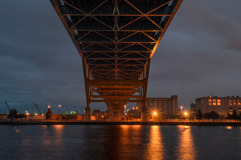 Milwaukee Dusk - 3rD Ward - Under the Hoan Bridge.