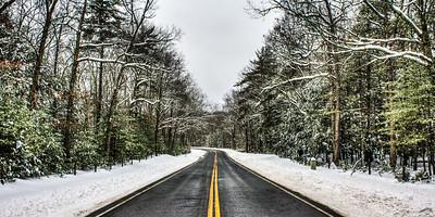 Reservoir Road, Shokan, New York, USA - Winter