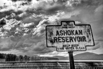 Old sign at Ashokan Reservoir Spillway