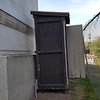 This is the shed that was later added to house the new electrical service - we believe this was done in the early 1970s.