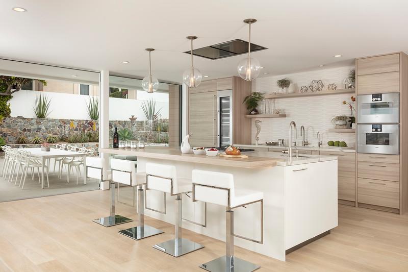 Kitchen and Patio; La Jolla, California, United States