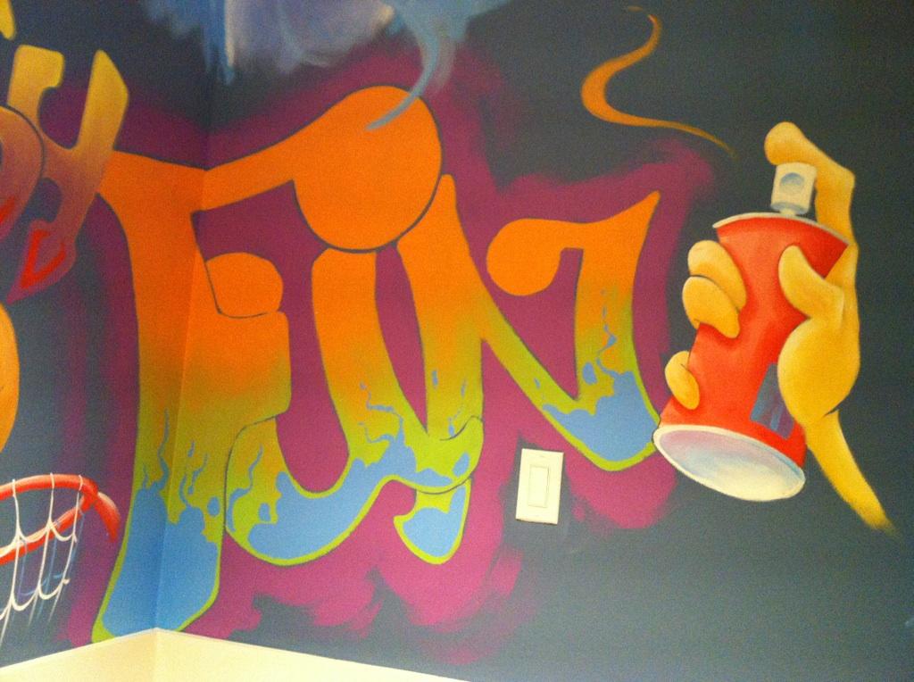 graffitti wall mural