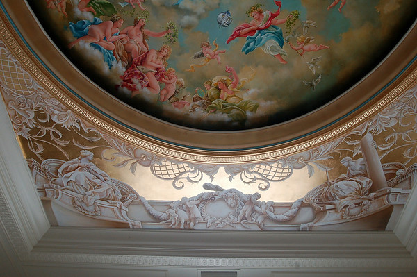 ceiling project at 60% finished ! Gold leaf gilding is coming along...