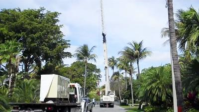 100 Ton Crane used to set 100kw Generator