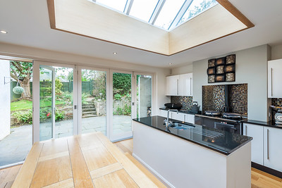 Interior and exterior architectural photography of private house extension in Edinburgh