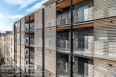 Exterior photography of private apartments on Great Western Road in Glasgow