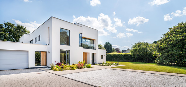 Contemporary house exterior architectural photography