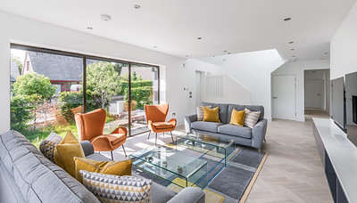 Interior architectural photography of private house conversion by CB3 Architects