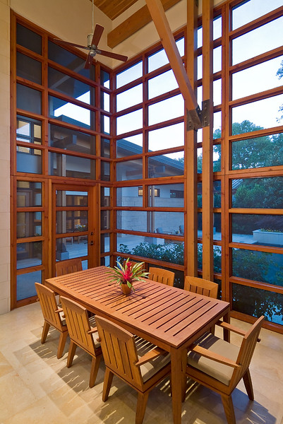 screened porch at back of house