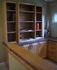 built-in cabinets, office loft
