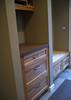 Storage area near back door