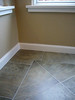 sunroom flooring and wall detail