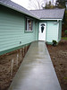 sidewalk from detached garage to rear entry