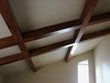New box beams installed on ceiling