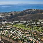 Dana Point Aerial 13, Laguna Niguel Golf Course, Catalina view