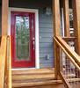 completed exterior, front door