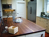 Solid wood kitchen island, commercial grade appliances and Hertco cabinets