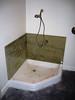 Mud room dog shower