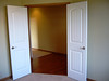 double doors to front hallway