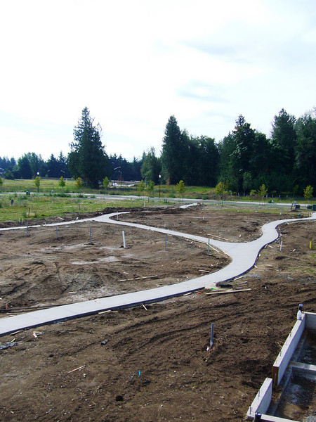 Trails & landscaped park under construction