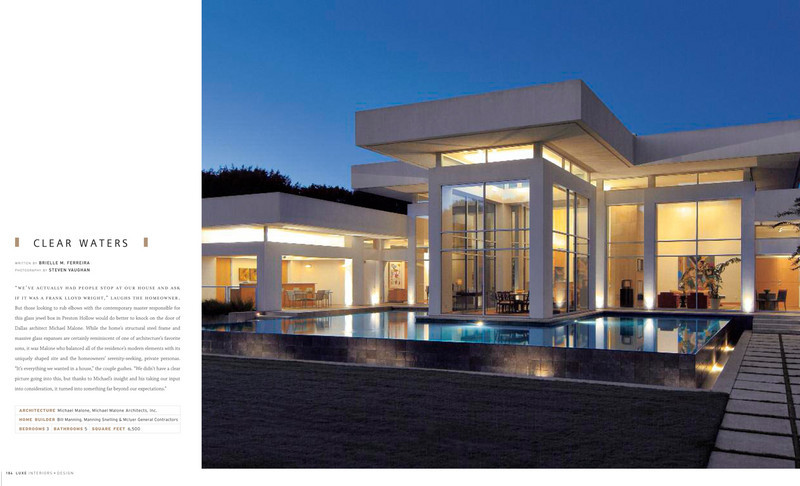 From the 2011 Spring DFW edition of Luxe Magazine.