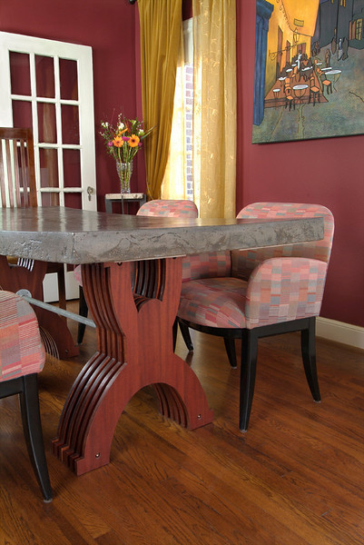 Photo featuring custom table for Lakewood Advocate magazine.