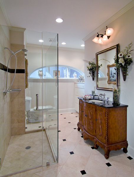 Bath remodel for Hunker Renovations.