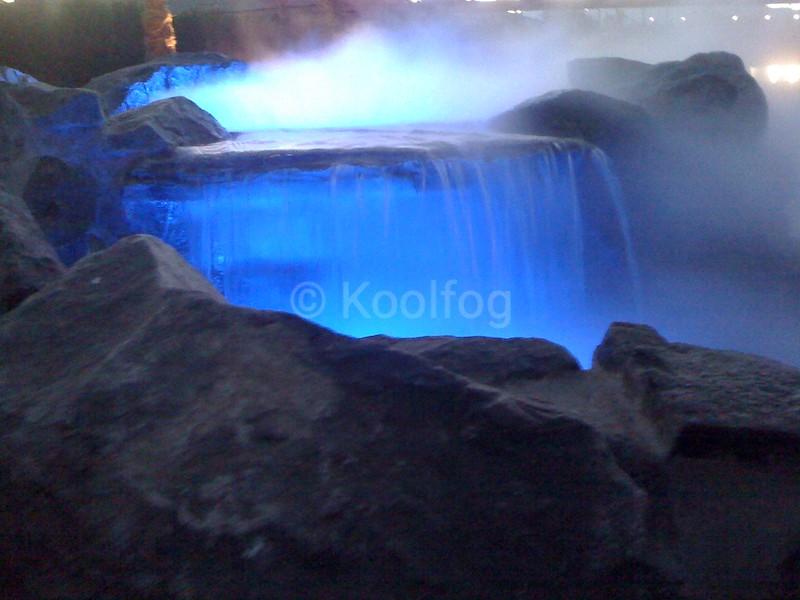 Waterfall with Fog and Lighting