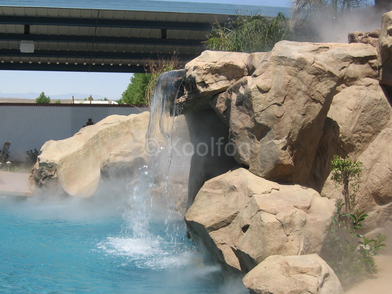 Fog Enhances and Cools Pool Play Area