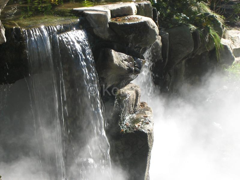Fog Under Waterfall