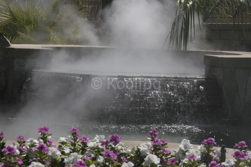 Fog Rolling Behind Jacuzzi
