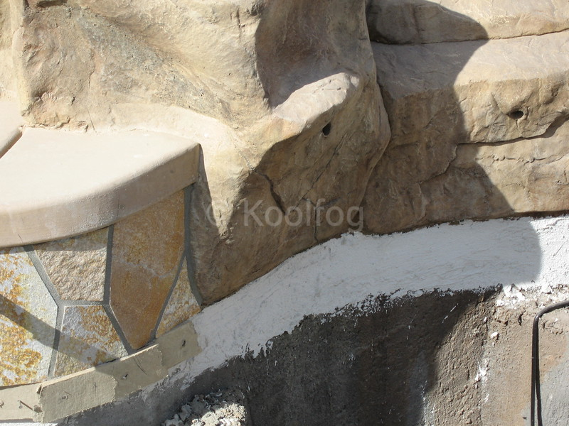 Integrated into Formed Rockwork
