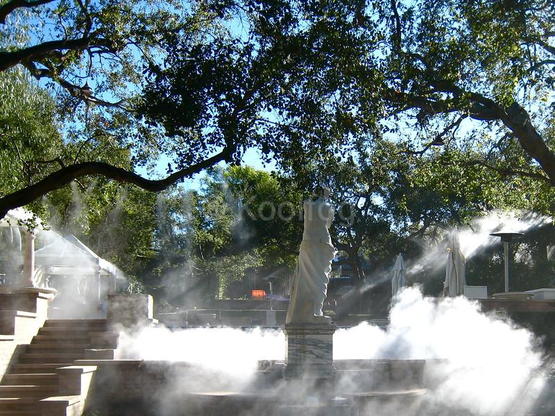 Statue Floats on Fog Bank