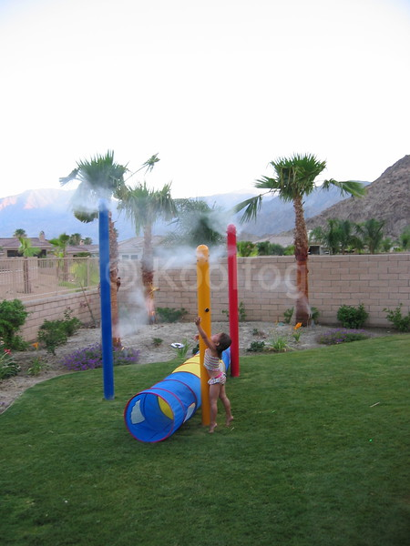 Playground Poles Provide Unique Misting Solution