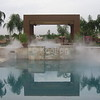 Water Feature and Fire Features Enhanced by Fog