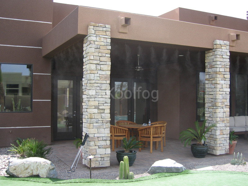 Outdoor Living Area Misted