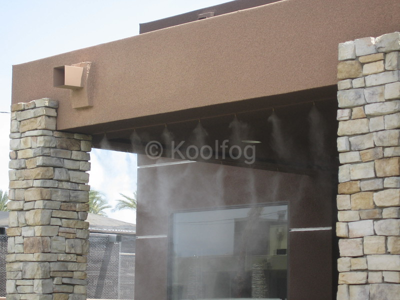 Misting in Outdoor Room