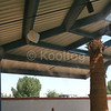 Industrial Shade Structure with Misting Line