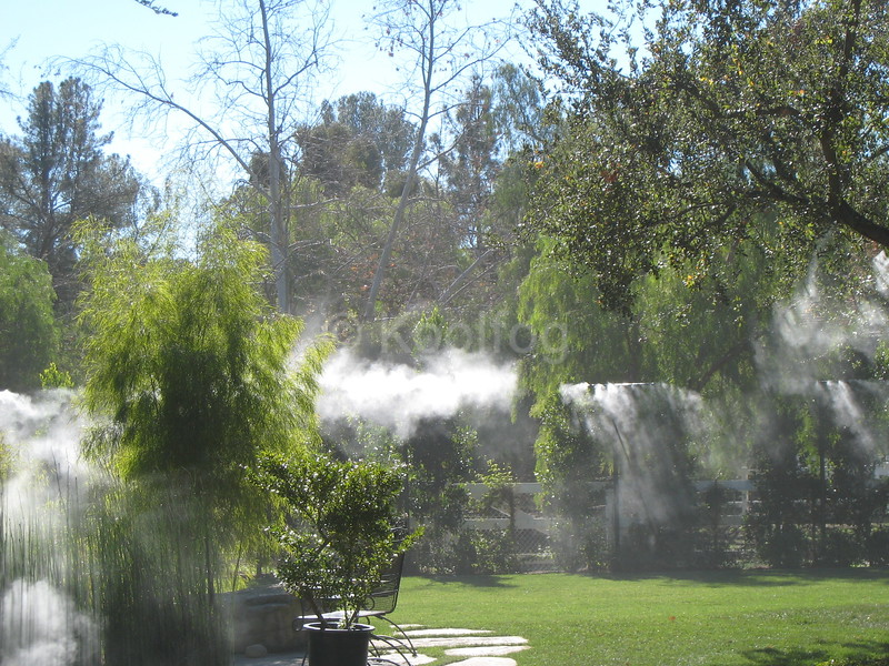 Landscape and Grass Area Cooled by Mist