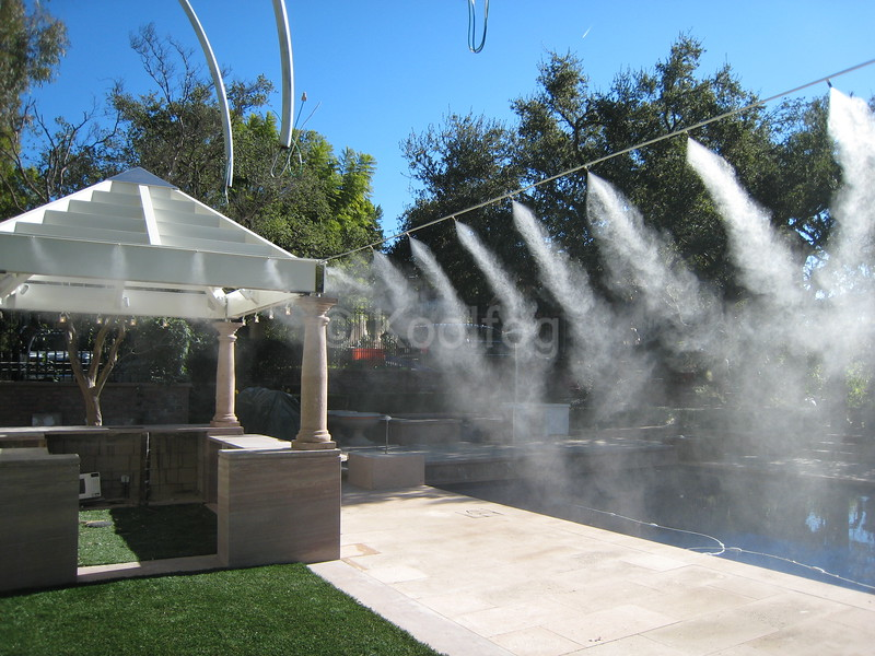Mist Line Suspended Over Pool Area