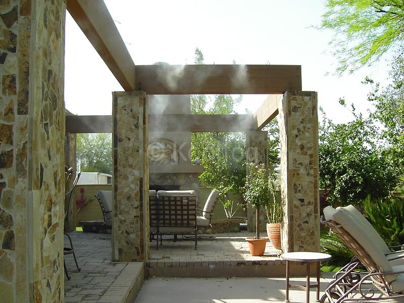Overhead Structure Using Hidden Mist Line