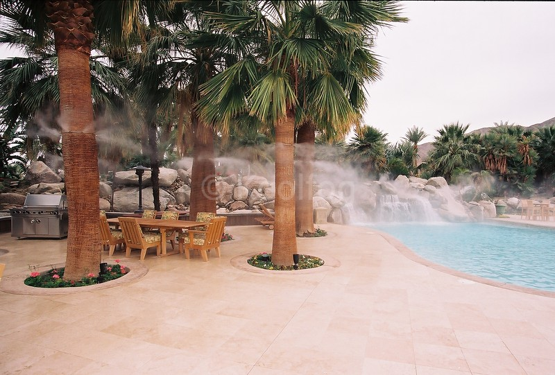 Misting Trees around Pool Area