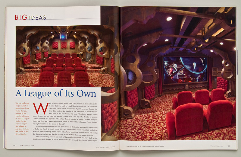 """Nautilus Home Theatre as published in """"Electronic House""""."""