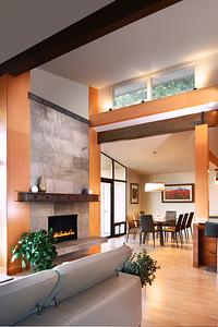 fireplace dining